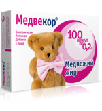«Медвекор» Медвежий жир в капсулах  (100 капсул по 0,2 г)